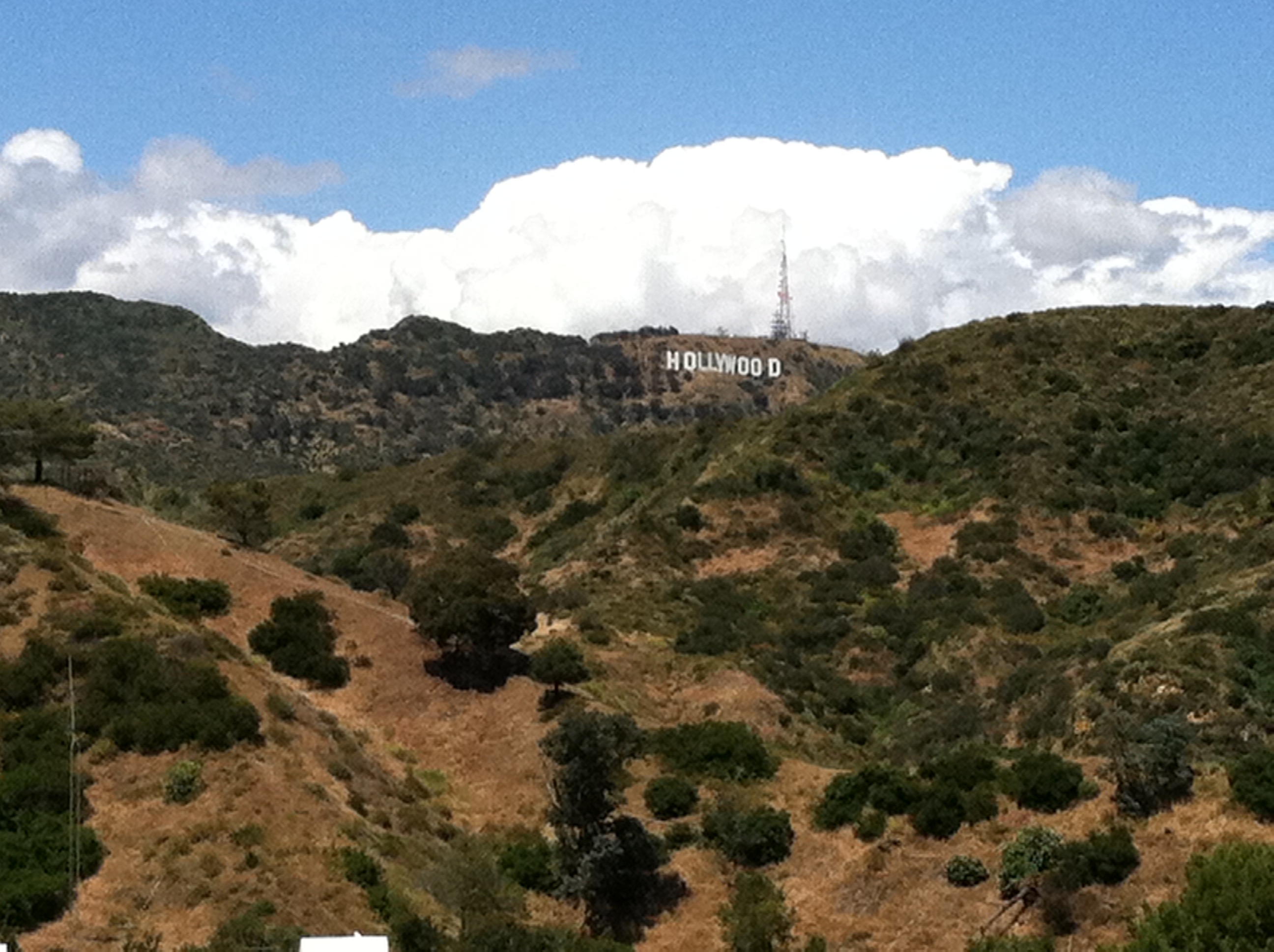 Hollywood sign from the Hollywood Bowl