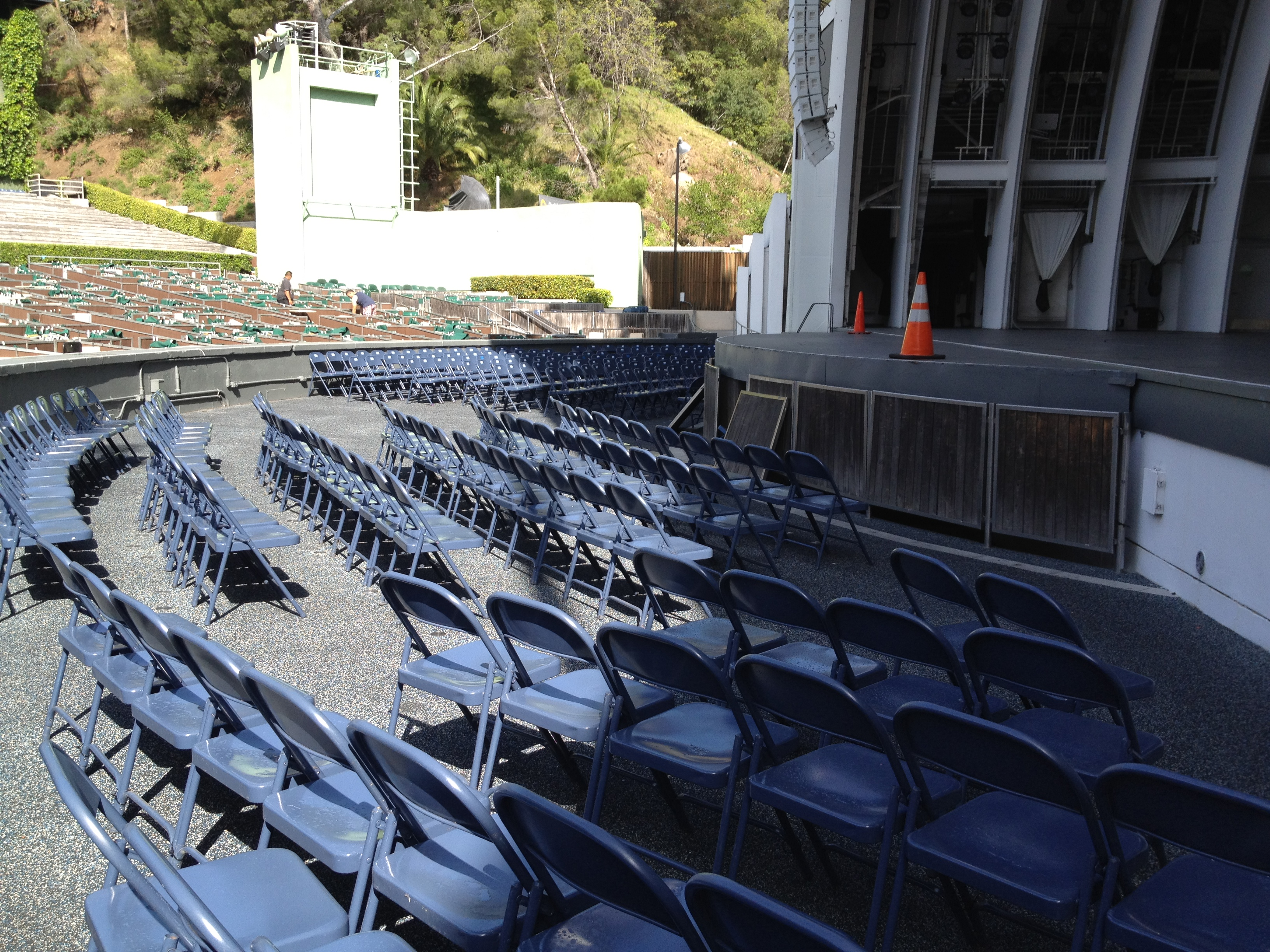 Pool section at the Hollywood Bowl
