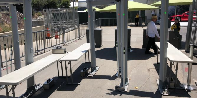 Hollywood Bowl metal detectors at all gate entrances