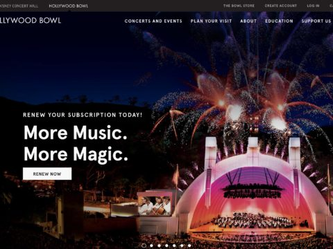 Hollywood Bowl website updated
